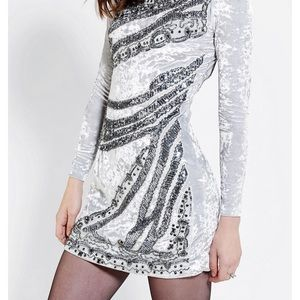 Velvet and sequin urban outfitter formal dress